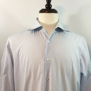 Hugo Boss Men's Large Striped Dress Shirt